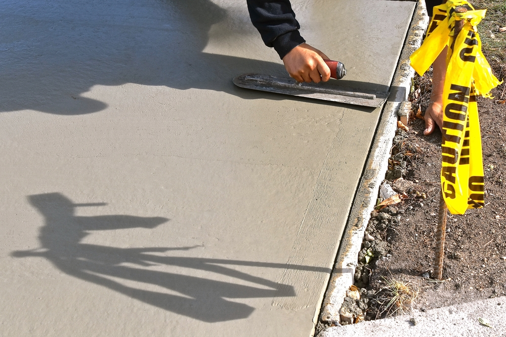 How concrete slab level works for damaged sidewalks