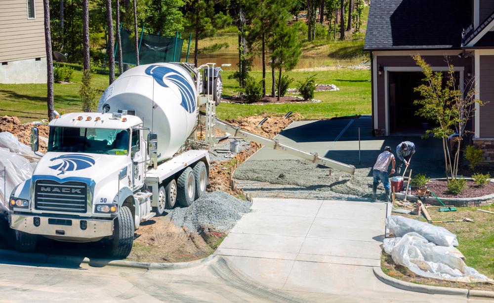 preparing concrete driveway winter