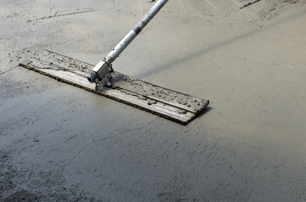 concrete finishing trowel broom stamped