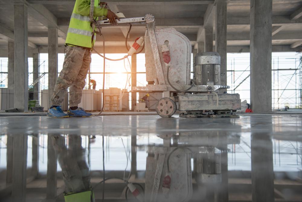 concrete finishing texturing polishing sand